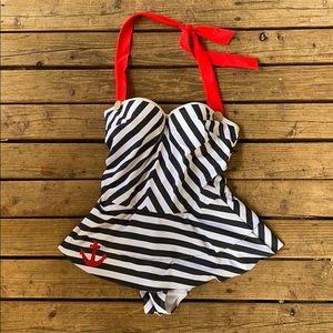 ModCloth nautical bathing suit